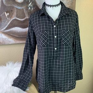 Merona Half-Button Plaid Tunic